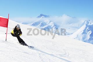 Giant Slalom ski racer