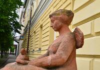 Kikinda city hall statue