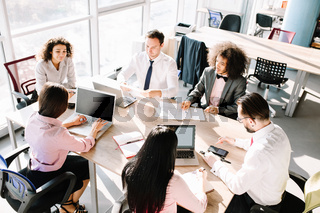 Business consultants working in a team.
