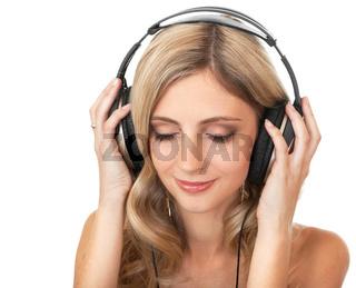 Beautiful girl in headphones
