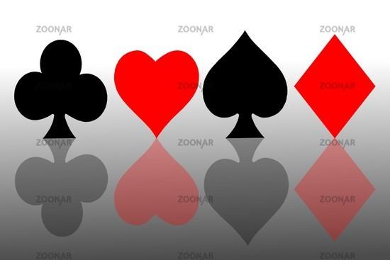 Karo Englisch foto spielkarten symbole bild 773544