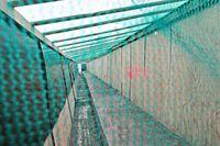 Schutzraum Baustelle zum Sandstrahlen Brückensanierung