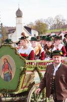 Hundham, Deutschland, Bayern 04.11.2017: Leonhardifahrt im bayerischen Hundham