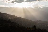 Sunrays on mountains