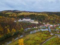 Castle Sternberk in Czech Republic - aerial view