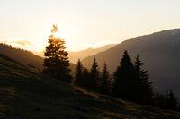 Abend in den Bergen