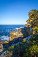 Manly Beach coastal cliffs, Sydney, Australia