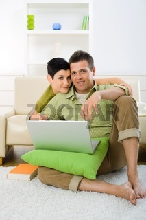 Couple browsing internet