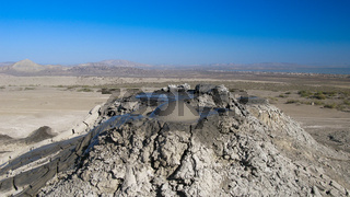Bursting the bubble mud volcanoes, Gobustan Azerbaijan