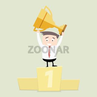 Businessman Podium Trophy