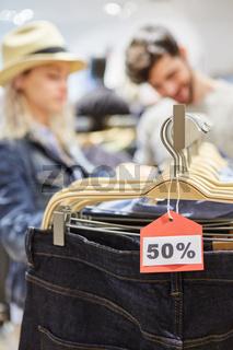 Rabatt Discount Preisschild 50% reduziert