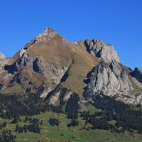 Mount Altmann, mountain of the Alpstein range, Switzerland.