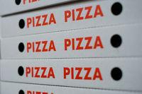 pizza boxes -   pizza cartons - empty pizza box