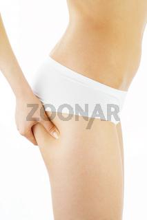 Healthy skin of hips
