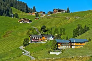 Streusiedlung St. Antönien im Prättigau, Graubünden, Schweiz