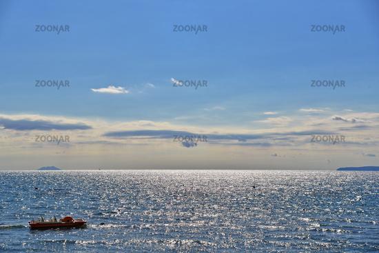 Blick auf das tyrrhenische Meer - Italien
