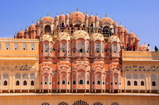 Interior of Hawa Mahal - Palace of the Winds in Jaipur, Rajasthan, India