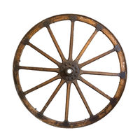 Old wheel isolated