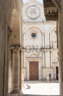 Stadt Pienza, Tal Orcia, Toskana, Italien