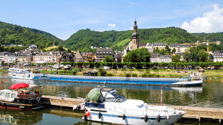 view of Cochem city from Moselle river