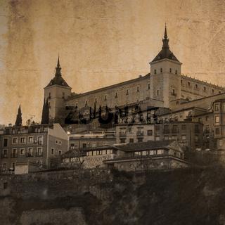 Festung Alcazar in Toledo, Kastilien, Spanien