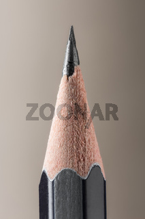 Sharpened pencil close-up view