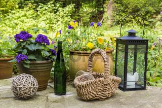 Stilleben im Garten, still life in a garden