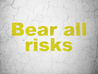 Insurance concept: Bear All Risks on wall background