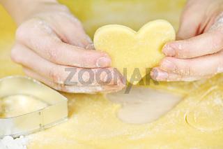 Making shortbread cookies