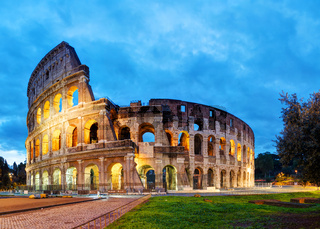 The Colosseum in Rome in the morning