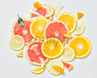 Background of citrus fruit slices,