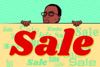 African businessman sale poster background