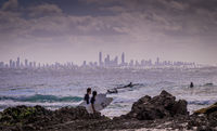 Surfing at Surfers Paradise