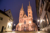 Basel Minster at Night
