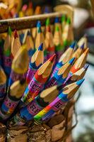 Colorful souvenir crayons on sale