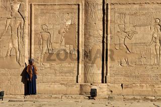 Egypt Edfu Part Of Inner Temple Wall