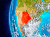 Botswana on Earth from space