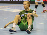Daniel Petterson (SC Magdeburg)  beim DKB-Handball Punktspiel SC Magdeburg - Frisch Auf Göppingen am 22.02.2018 in Magdeburg