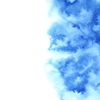 Blue diffluent watercolor background