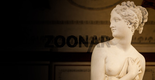 VENICE, ITALY - JUNE 27, 2016: Venus Statue detail in Palazzo Ducale museum