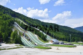 Sprungschanzen in Planica