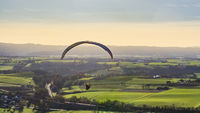 high angle paragliding scenery