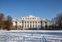 Elagin Palace on the Elagin Island in Winter