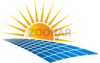Solar Power Energy Logo Vector Illustration