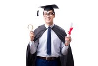 Student graduate isolated on white background