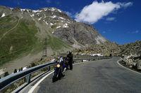 Motorradfaher am Albulapass
