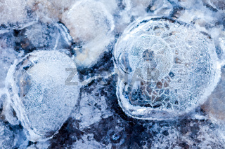 Close up of ice showing the details and texture