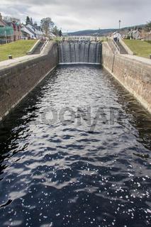 Caledonian canal lock gate Fort Augustus, Scotland