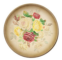 Decorative Rose  Plate