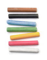Top view of oil pastel sticks